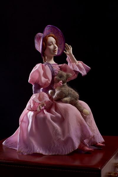 Авторская кукла Эмили с кошкой