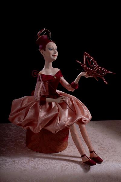 Авторская кукла   Дрессировщица бабочек