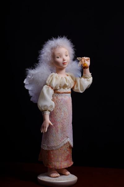 Авторская кукла Ангел с колокольчеком