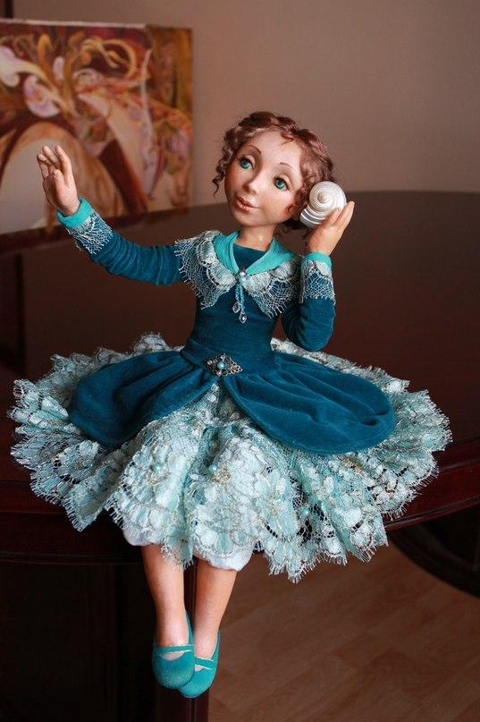 """Авторская кукла""""Мечты о море"""""""