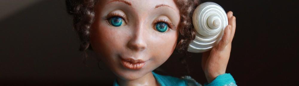 """Авторская кукла""""Мечты о море"""" фрагмент"""